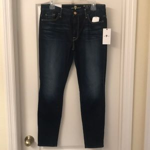7 For All Mankind 32 high waist ankle skinny NWT